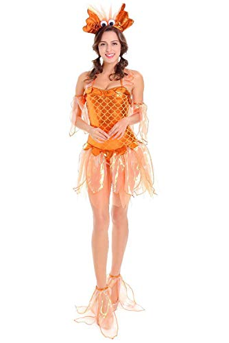 (MingoTor Kleines Drachenmädchen Jumpsuit Cosplay Kostüm Orange)