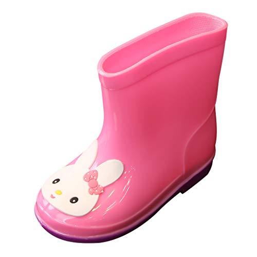 Alwayswin Kleinkind Kinder Baby Mädchen Jungen Gummistiefel Rain Boot PVC Cartoon Regenstiefel Tiere Regen Stiefel Schuhe Galoschen wasserdichte Schuhe rutschfest Wasserschuhe