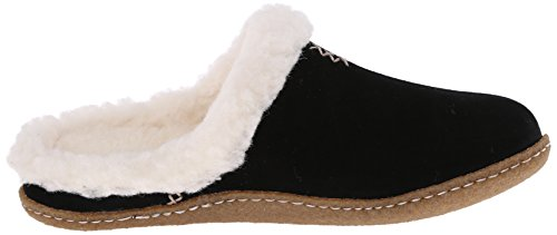 Sorel Nakiska Slide, Pantofole Da Donna Nere (nero, Fossile 010)