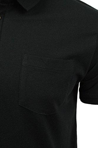 Herren Polo T-Shirt von Brave Soul `Julius`kurzärmlig Jet Black