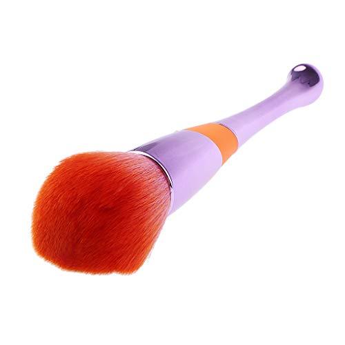 Homyl Pro Maquillage Pinceau Blush Brosse Poudre Libre pour Visage Manche en Plastique Outil Maquillage - Violet