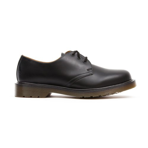 Dr. Martens – 1461 3 Eyelet Oxford, Chaussures Oxford à lacets, Mixte - noir - Nero(Black-Smooth), 46 EU EU