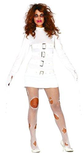 Fancy-Me Damen Straight Jacke Psycho Halloween Insane Crazy Mental Kostüm Outfit (UK 12-14)