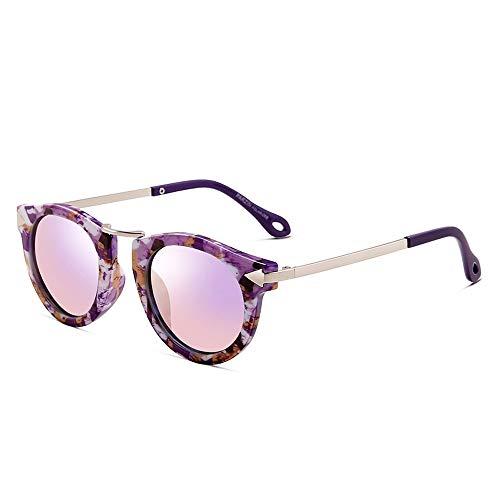 JMTLLTYYJ Sonnenbrillen Für Kinder, Retro-Sonnenbrillen Für Jungen Und Mädchen, Geeignet Für 4-8 Jahre, Mehrfarbig Optional (Farbe : A)