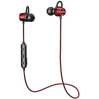 Spielzeit//IPX7 Wasserschutzklasse//eingebautem Mikrofon Federleicht Headset f/ür iPhone Qomomont Bluetooth Kopfh/örer In-Ear Sport Headphones mit 16 Std HTC uws. Huawei Samsung