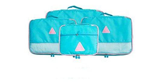 Aufbewahrungsboxen Reisetasche Finishing Beutel Unterwäsche Kleidung Kleidung Koffer Lagerung Tasche Anzug Reise Truhen ( Farbe : Rot , größe : L ) Blau