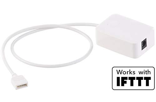 Luminea Zubehör zu LED Streifen Alexa: WLAN-Controller (LED Serie LAC), Amazon Alexa & Google Assistant komp. (LED Strip Controller Alexa)