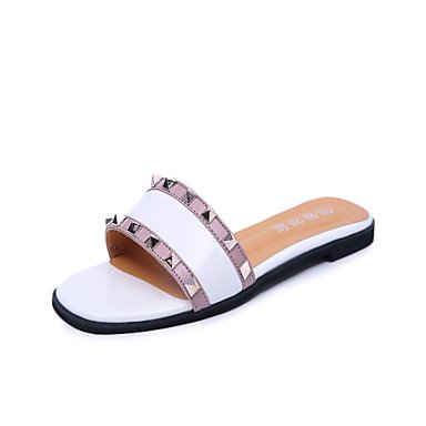 Donne'spantofole & flip-flops Estate Mary Jane Casual in similpelle tacco piatto innervamento a piedi US6 / EU36 / UK4 / CN36