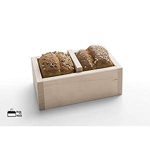 bax im Holz Brot-Holzbackrahmen - Trennwand naturbelassenem, massivem Buchenholz Backrahmen