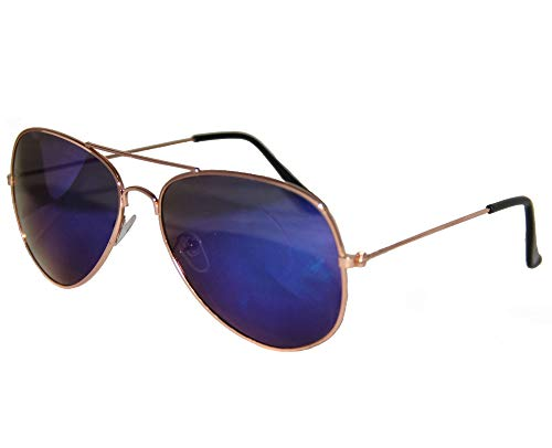 Foxxeo FO35318   Blaue Pilotenbrille Party Brille Pilot Cool Sonnenbrille
