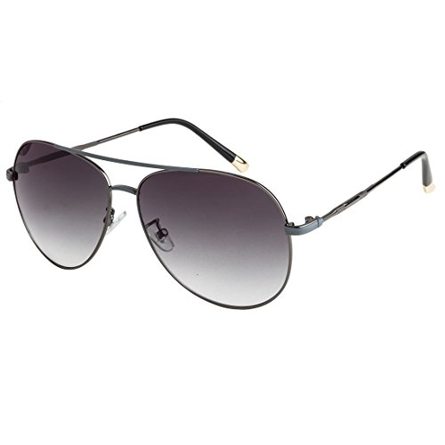 Farenheit Unisex Aviator UV Protected Sunglasses |SOC-FA-B80-5-Gun-Grey|Gun|Grey|