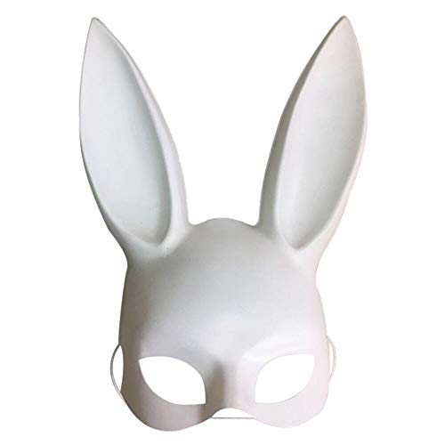 Halloween Make-up Ball Bunny Ohrmaske Maske Sklaverei Rabbit Maskerade Adult Dekoration,banner aufblasbar led michael myers masken erwachsene the purge (white)