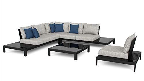 ARTELIA Valentino L Aluminium Loungegruppe Loungemöbel - Luxus Gartenmöbel-Set Sitzgruppe für Garten, Terrasse und Wintergarten, Premium Terrassenmöbel Anthrazit