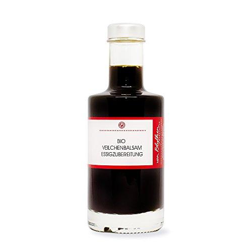 Bio Veilchen Balsamico Essig – Essigzubereitung mit Veilchenblüten und Honig 200 ml –...