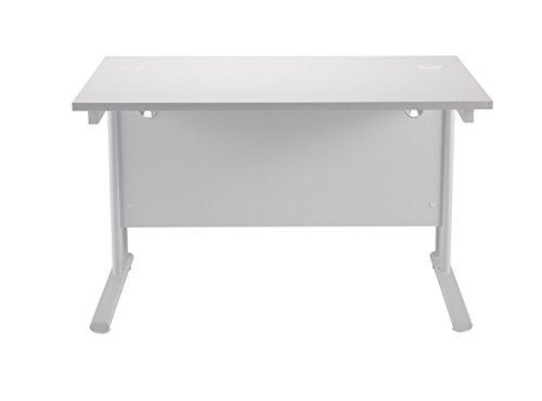 Top Office Hippo Heavy Duty Rectangular Cantilever Desk, 140 cm – White Frame/White Top on Line
