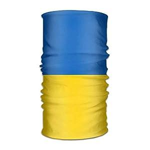 longkouishilong Kopfbedeckungen Flag of Ukraine Unisex Outdoor Sport Scarf Headbands Bandana Mask Neck Gaiter Head Wrap Sweatband Headwear