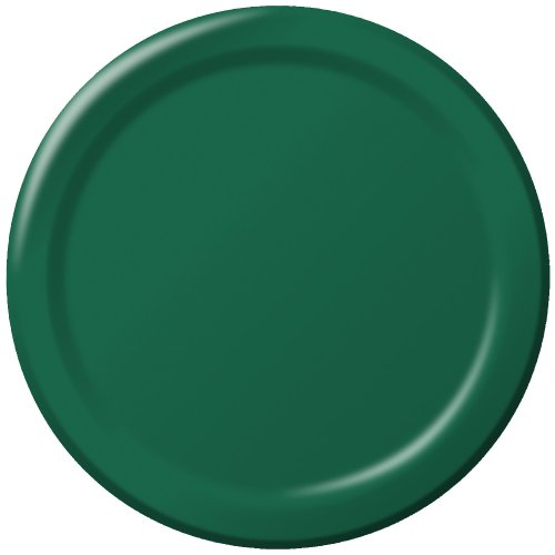 Creative Converting 503124B BANQUET PLATE Teller, Papier, hunter green Hunter Green Teller