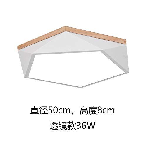 Lampada da soffitto a led camera da letto principale lampada soggiorno lampada studio bianco grande oscuramento a tre colori