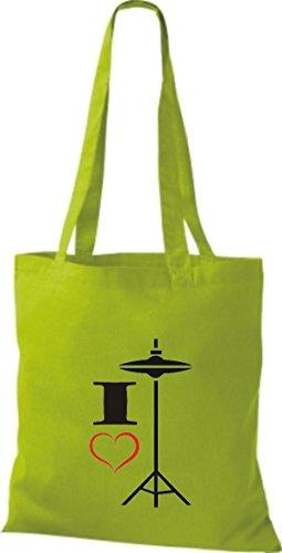 Shirtstown, Borsa tote donna Verde (Giallo)
