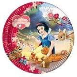 Disney-Snow White Princess-Pappteller, 23 cm, 10 Stück