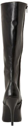 Pleaser Damen Seduce-2020 Kurzschaft Stiefel Blk Leather