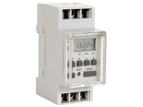 Perel E305DIN1 DIN Rail Week Timer - Am-pm Radio