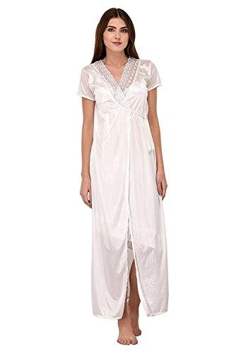 c5d02fa362 Shararat Premium Sexy Honeymoon Satin Nighty with Wrap Gown, Top ...