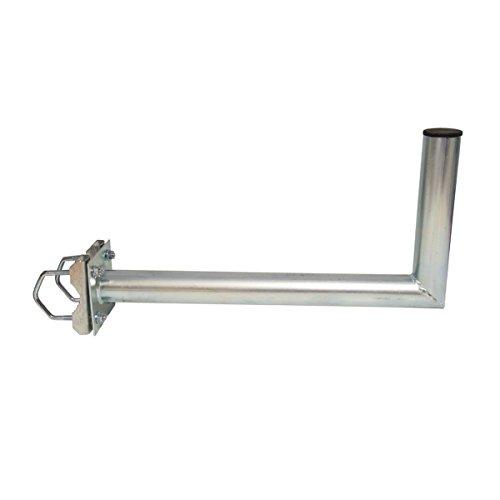 PremiumX Balkonhalterung / Geländerhalterung / Ausleger mit Schellen, Zahnschellen 25cm Stahl für Sat Schüssel Spiegel Antenne Satellitenschüssel