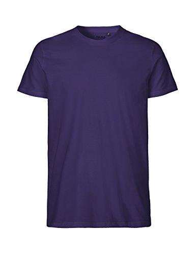 -Neutral- T-Shirt, 100% Bio-Baumwolle. Fairtrade, Oeko-Tex und Ecolabel Zertifiziert, Textilfarbe: lila, Gr.: 3XL