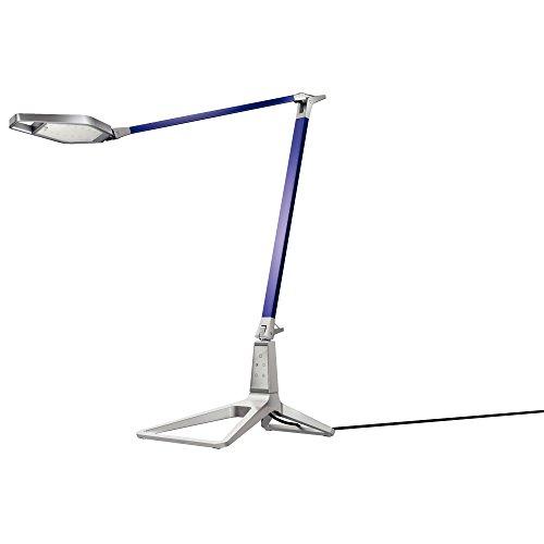 Leitz Style smarte LED Schreibtischleuchte, USB-Ausgang, Bluetooth, titan blau, 62080069
