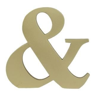 Contemporary Large 6inch Wooden Letters Free-standing A to Z, & Alphabet Letters / Name / Door / Words / Wall / Craft / Sign (Gold Letter &) (Sign Surf Wall)