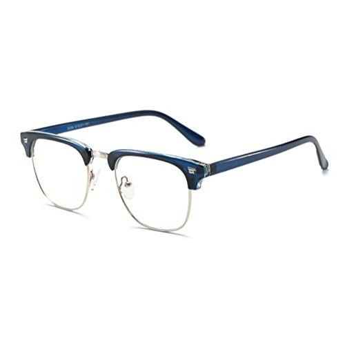 Juleya Männer Frauen Anti Blau Licht Gläser - TR90 Ultra-Licht Frame Clear Lens Gläser Rahmen für Computer/PC Spiel/TV/Handy Lesen Brillen