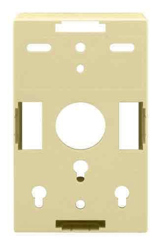 OnQ / Legrand WP3409LA Single Gang Surface Mount Box, Light Almond by Legrand-On-Q Gang Surface Mount Box