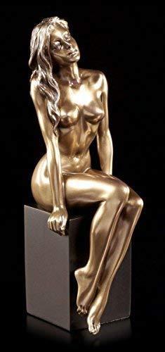 Erotische Akt Figur - Sin on two Legs   Veronese Statue Frau Bronze-Optik sexy - Nackt Bronze