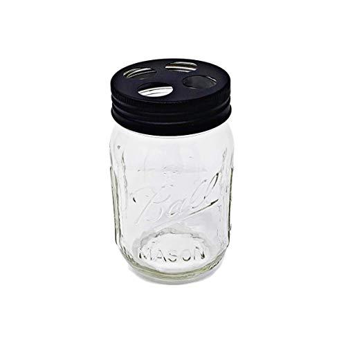 Mason Jar Seifenspender, Edelstahl-Pumpe, mit 454 ml Kugel, Mason Jar/klassische Dekoration für Schlafzimmer, Badezimmer, Küche, Bauernhaus Dekor (venezianische Bronze) Toothbrush Holder Black Matte Jar-küche Dekor