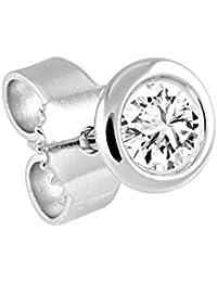 Diamond Line Women's Single Diamond Stud Earrings 585Yellow Gold 1Diamond White Piqué (Pi)