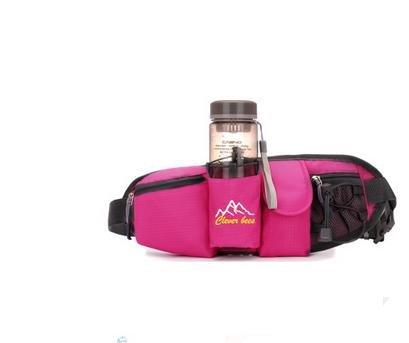 Zll/Outdoor Wasser Flasche Taschen Taschen Tasche für Handys der Tasche Bergsteigen Trips für Damen und Herren Running rose red