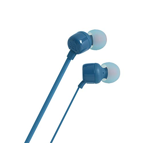 JBL T110 in-Ear Headphones with Mic (Blue) Image 5