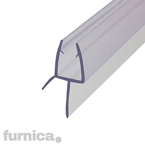 FURNICA 100cm Ersatzdichtung für 6/7-8mm Glasdicke, Wasserabweiser Duschdichtung, Lücke 13.4mm UK03