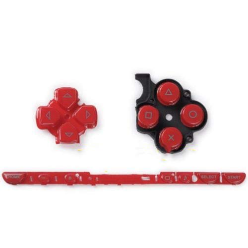 Links Rechts Tasten Key Pad Home Start Full Button Set Reparatur für Sony PSP 2000 PSP2000 Konsole rot