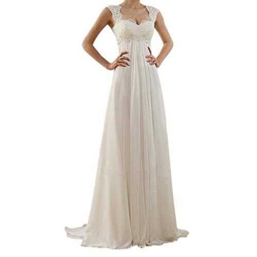LHWY Kleider Damen Sommer Lang Frauen Damen Plus Size V-Ausschnitt Backless Maxi Kleid Hochzeit Cocktailkleid