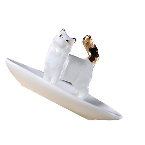 non-brand Sharplace Schmuckhalter Schmuckständer Ringhalter Halter für Ringe Ohrringe Schmuck - # 1 Katze (Ring-halter Katze)