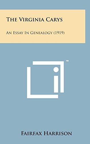 The Virginia Carys: An Essay in Genealogy (1919)
