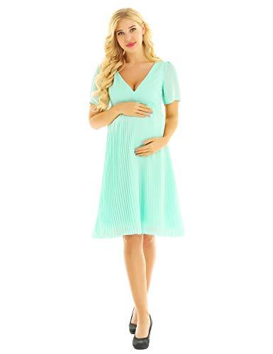 Freebily Schwangerschafts Kleider Damen Mutterschafts Kleid Fotografie Stillkleid Umstandskleid für...