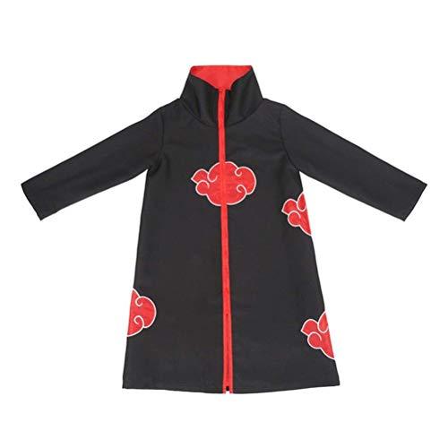 Lvvvs Kind Cosplay Naruto Cos Windjacke Organisation Rote Wolke Umhang (Masquerade Princess Halloween-kostüme)