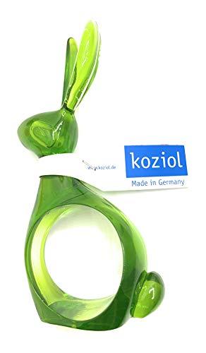 Koziol Serviettenring Hase Hazel 1 Stück Grün transparent Maigrün