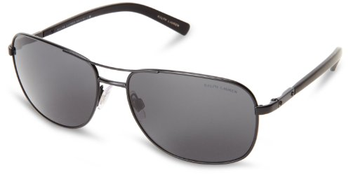 Ralph lauren polo 0ph3076 903887 occhiali da sole, nero (matte black/gray), 59 uomo