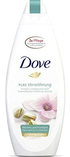 Dove Pure Verwöhnung Pistazie und Magnolienduft Duschgel Pflegedusche, 6er Pack(6 x 250 ml)