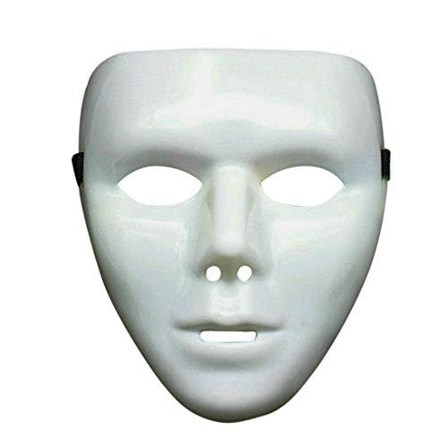 Weiße Kostüm Gesichtsmaske - JUSTSELL ▾ Maske - Hip Hop Maske Leuchtend Unisex Anti Staub Wind Gesicht Maske Halloween Ghost Dance Auftritte Masken Partei Kleid Maske Weiß Maske Kostüm Kostümzubehör Halloween Party