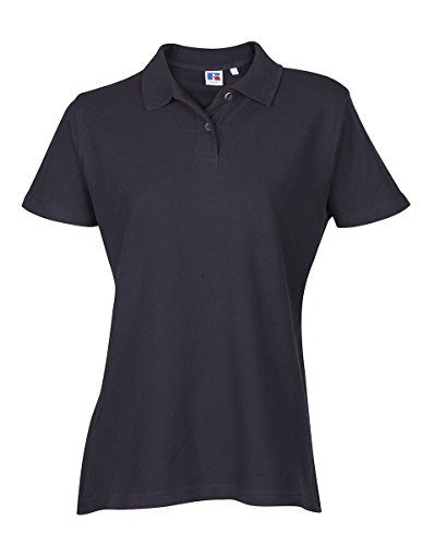 Russell Athletic Ladies Womens Polo Tshirt Top Shirt Plain Sports Casual Short Sleeve New Cotton